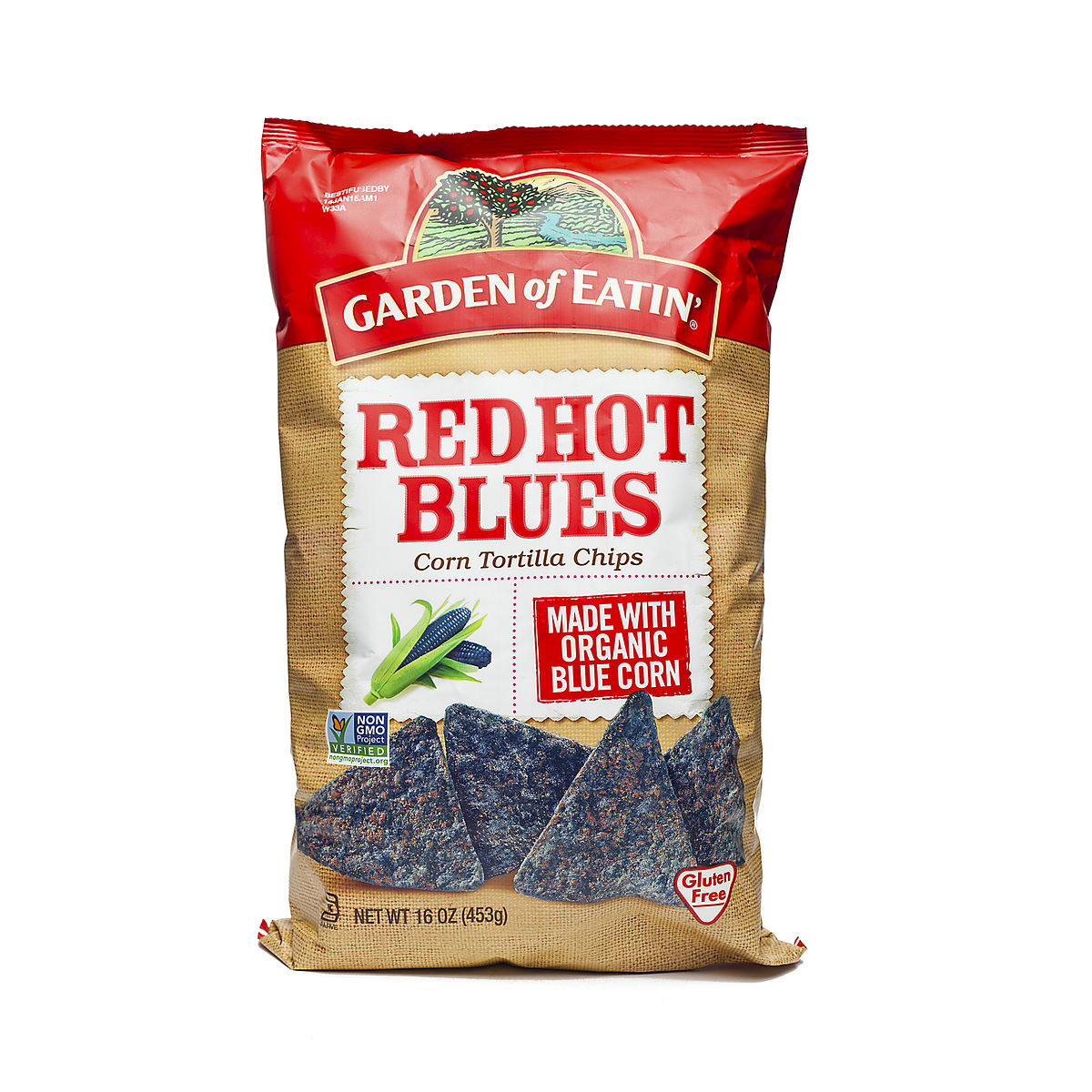 Red tortilla chips