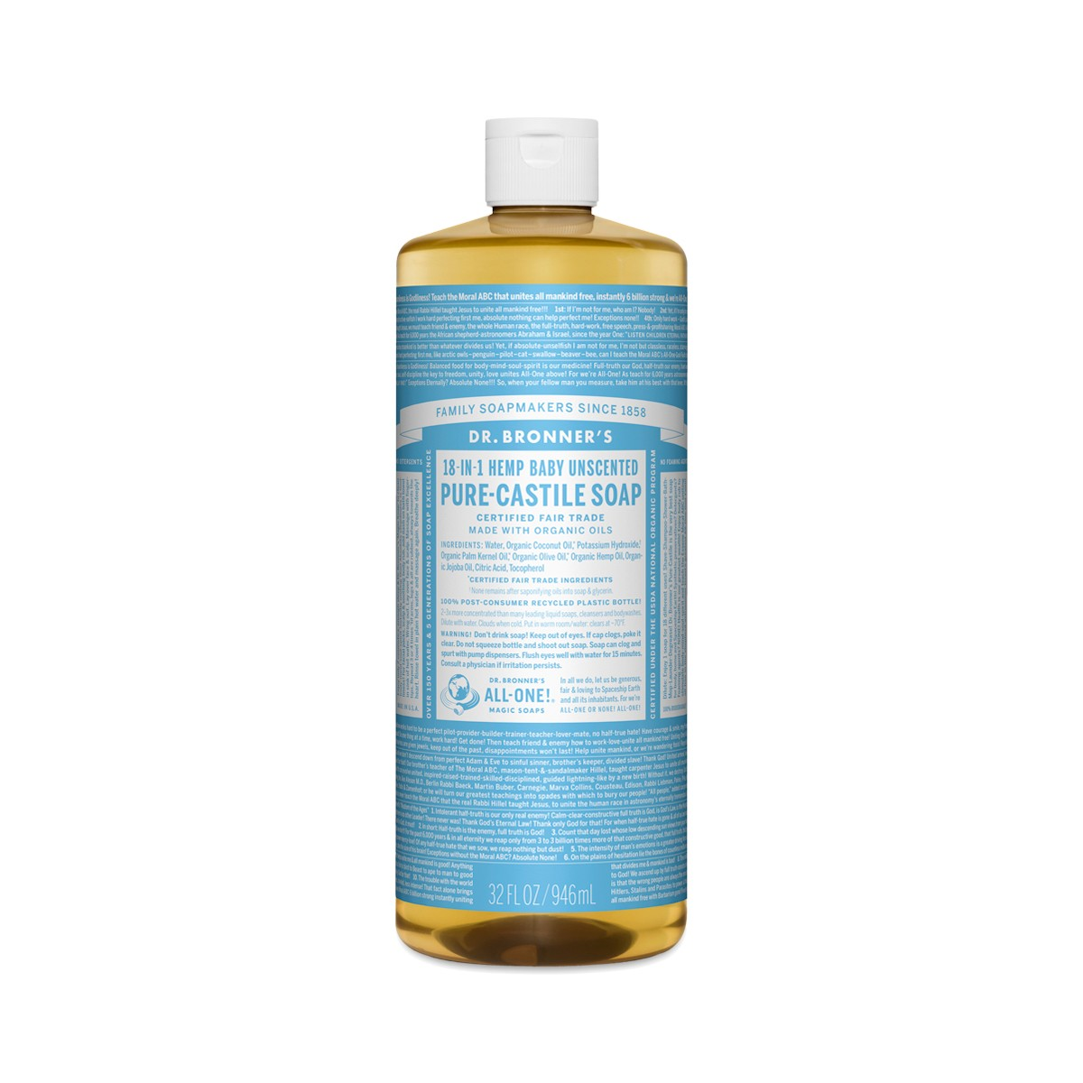 Baby Mild Castile Liquid Soap Organic By Dr Bronner S