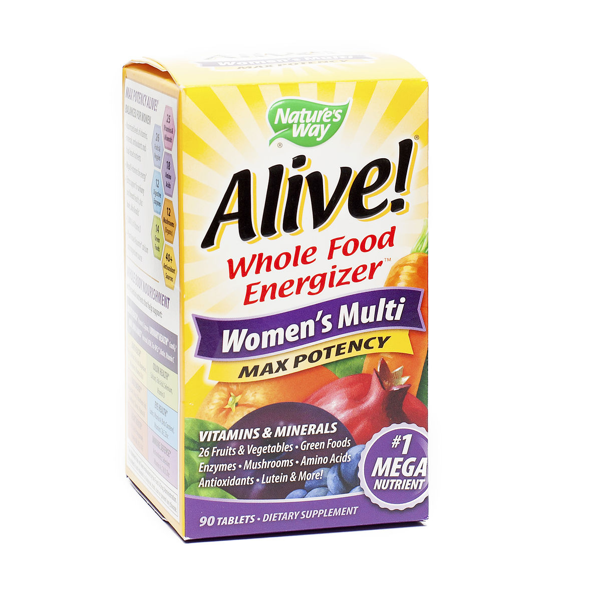 Nature S Way Alive Max Potency Multivitamin Ingredients