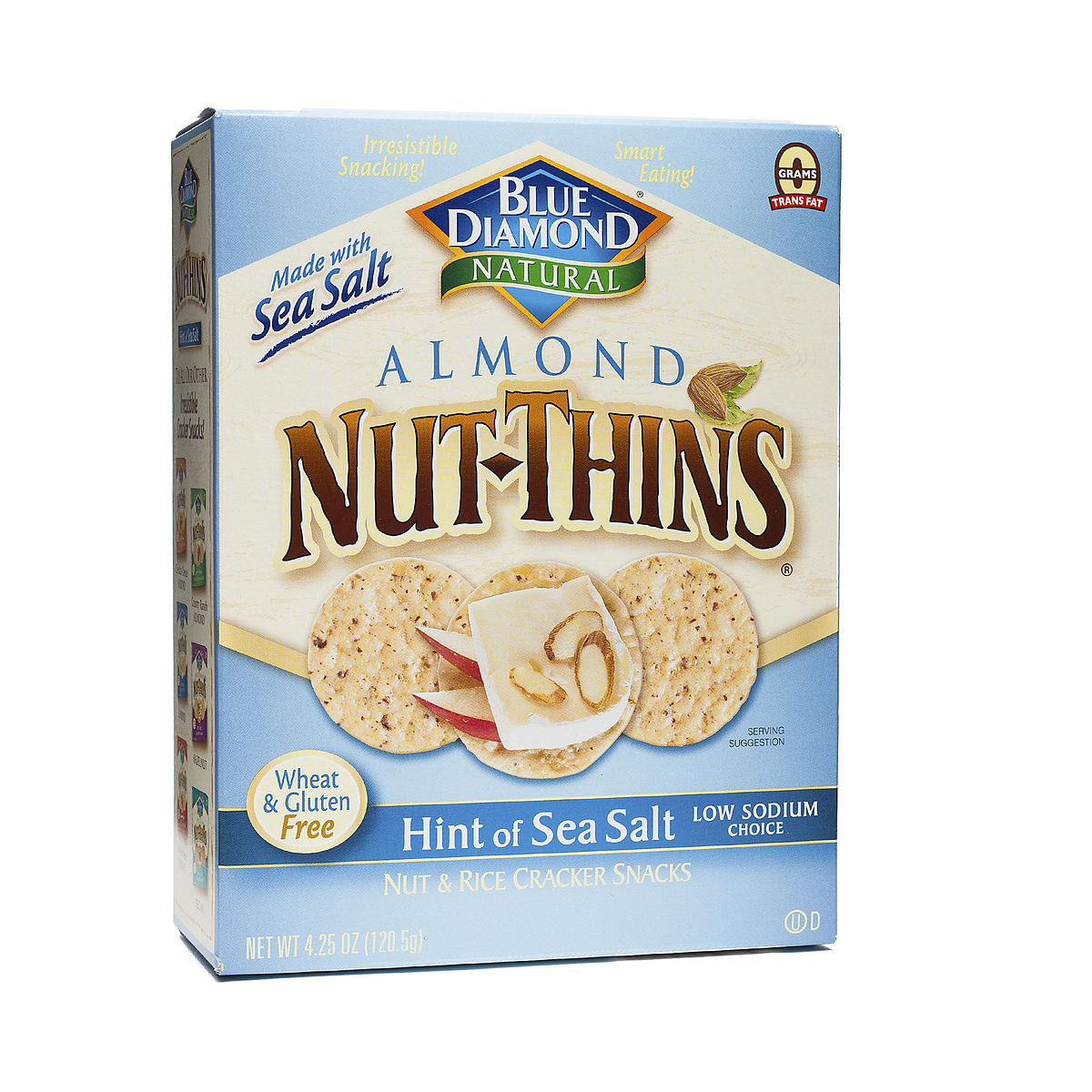 4.25 oz Sea Salt Nut Thins Crackers by Blue Diamond ...