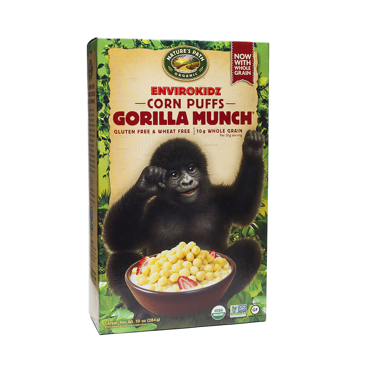 Gorilla Munch Corn Puffs Cereal Organic By Envirokidz