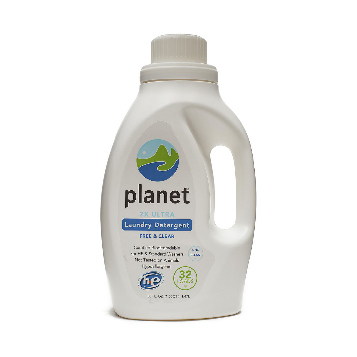 Planet Inc 2x He Ultra Laundry Liquid Detergent 32