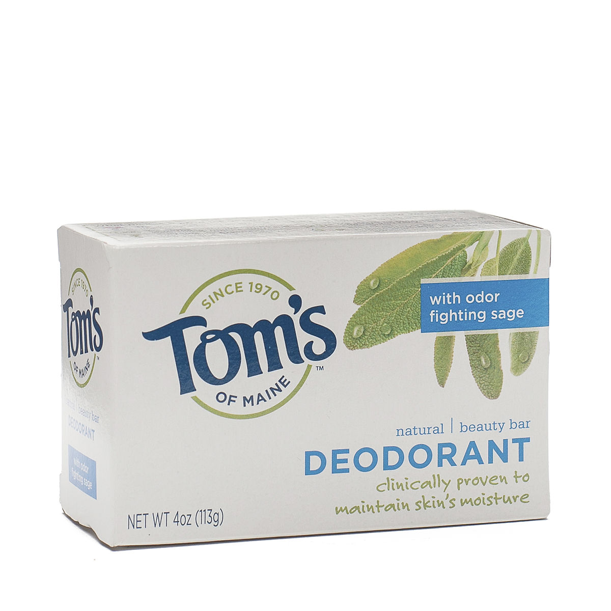 4 Oz Deodorant Natural Beauty Bar By Toms Of Maine