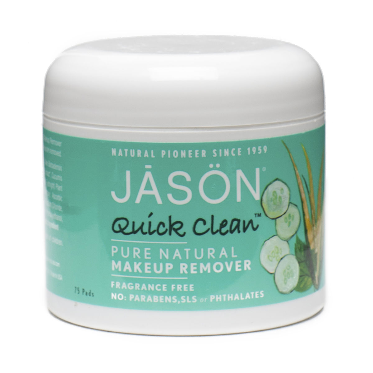 makeup  clean jar 2 clean pads  quick natural 75 jason quick pads remover jason pads per makeup leave natural remover