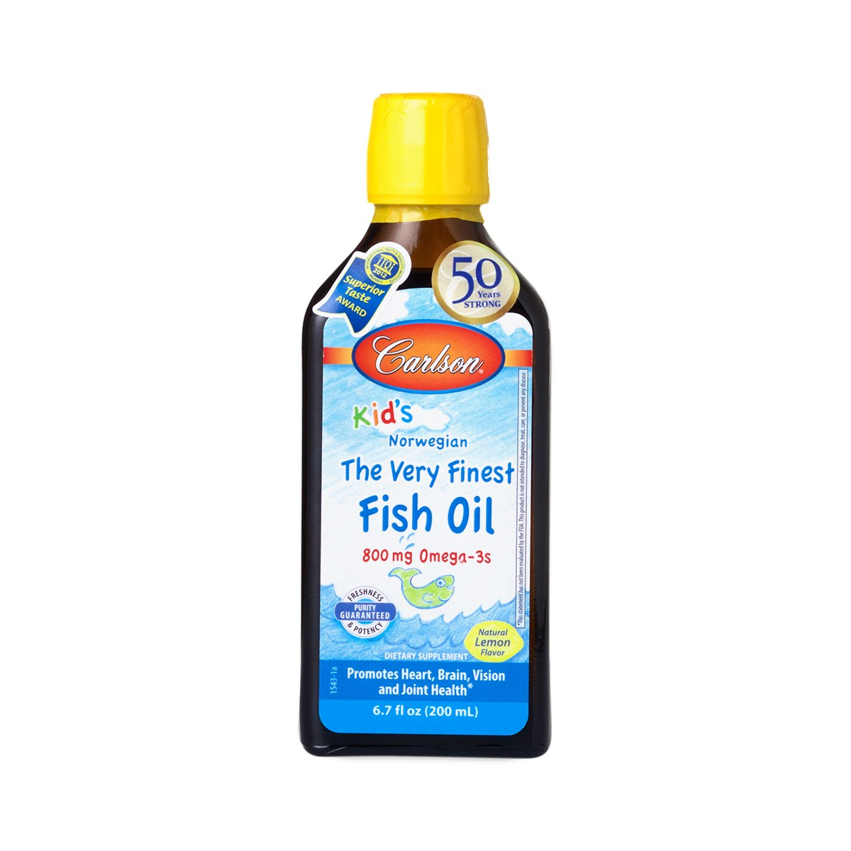 Lemon flavor kids very finest fish oil by carlson labs for Best fish oil on the market