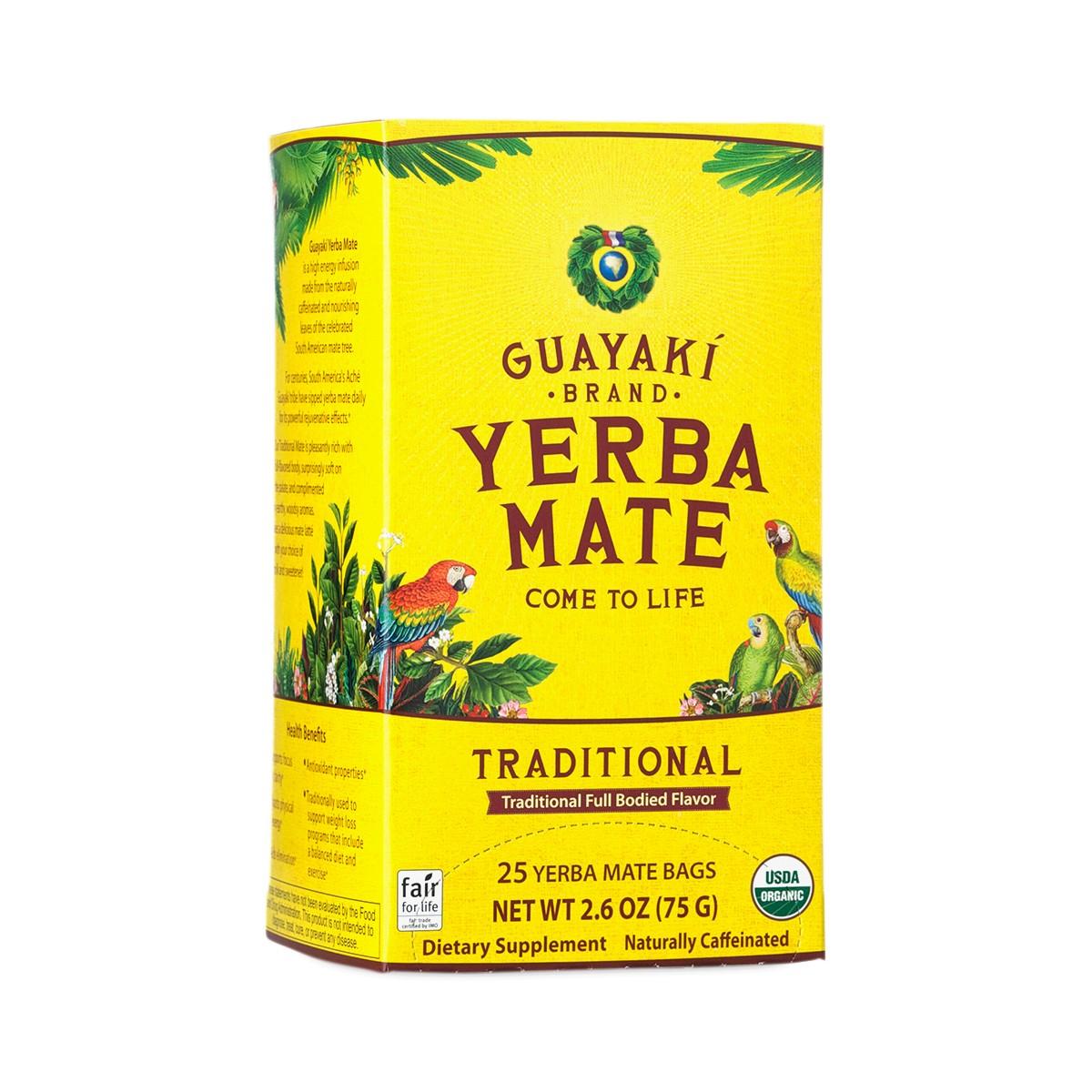 Traditional Yerba Mate Tea Bags By Guayaki Thrive Market