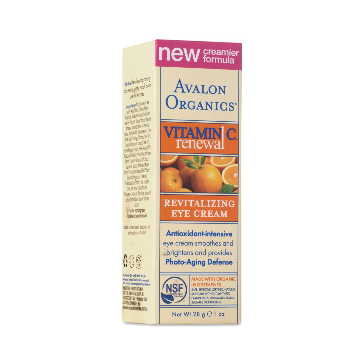 Avalon organics eye cream review