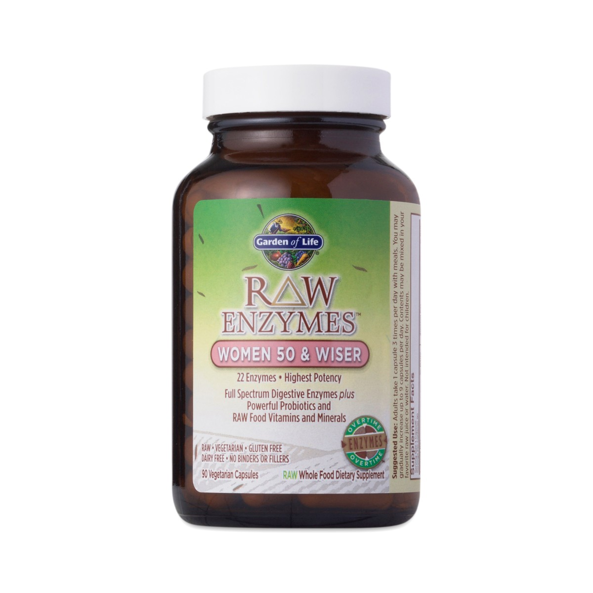 Raw Enzymes Women 50 Wiser By Garden Of Life Thrive Market