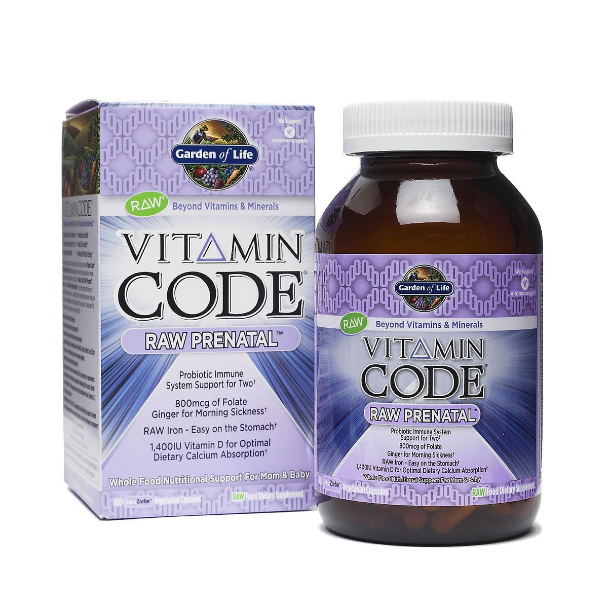 Vitamin Code Raw Prenatal By Garden Of Life Thrive Market