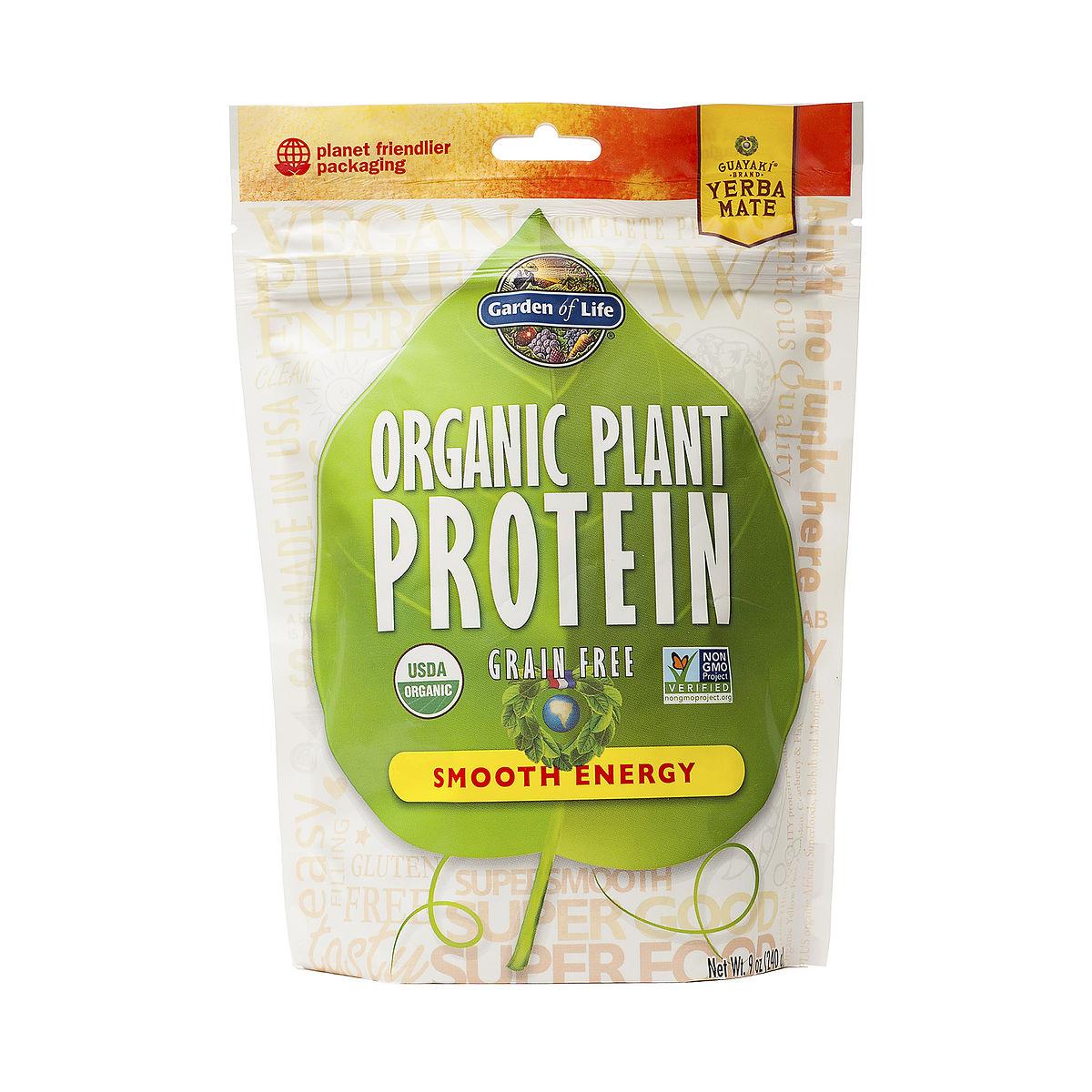 Garden of life organic plant protein powder smooth energy - Garden of life plant based protein powder ...