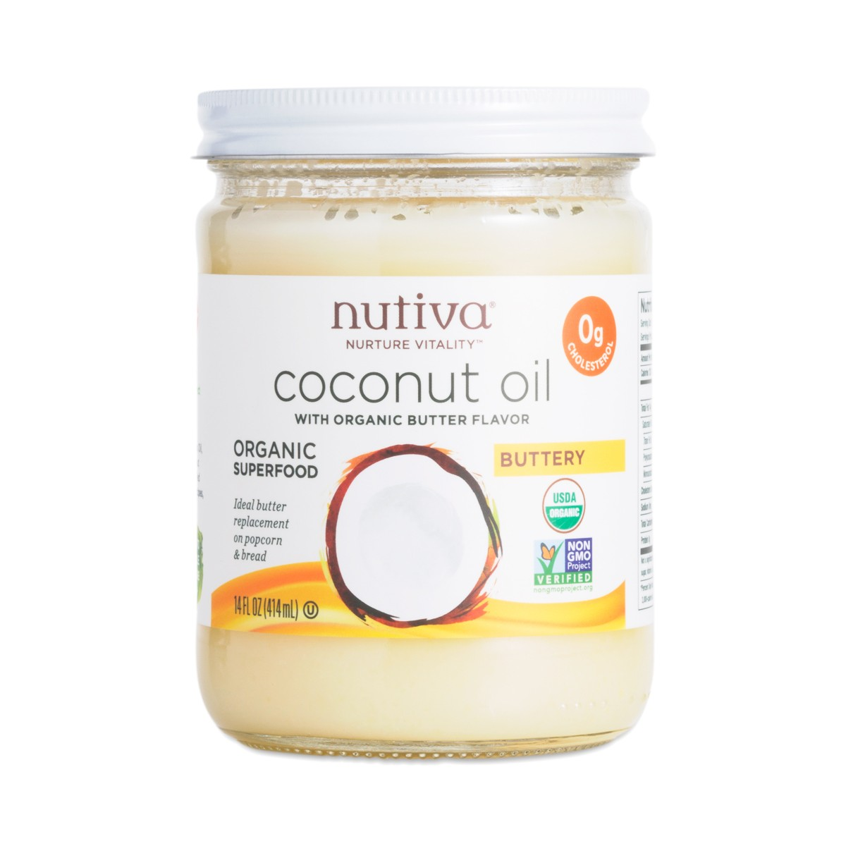 Nutiva Coconut Oil With Butter Flavor Thrive Market