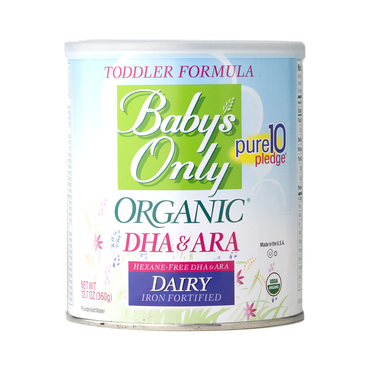 Baby S Only Organic Dairy With Dha Amp Ara Toddler Formula