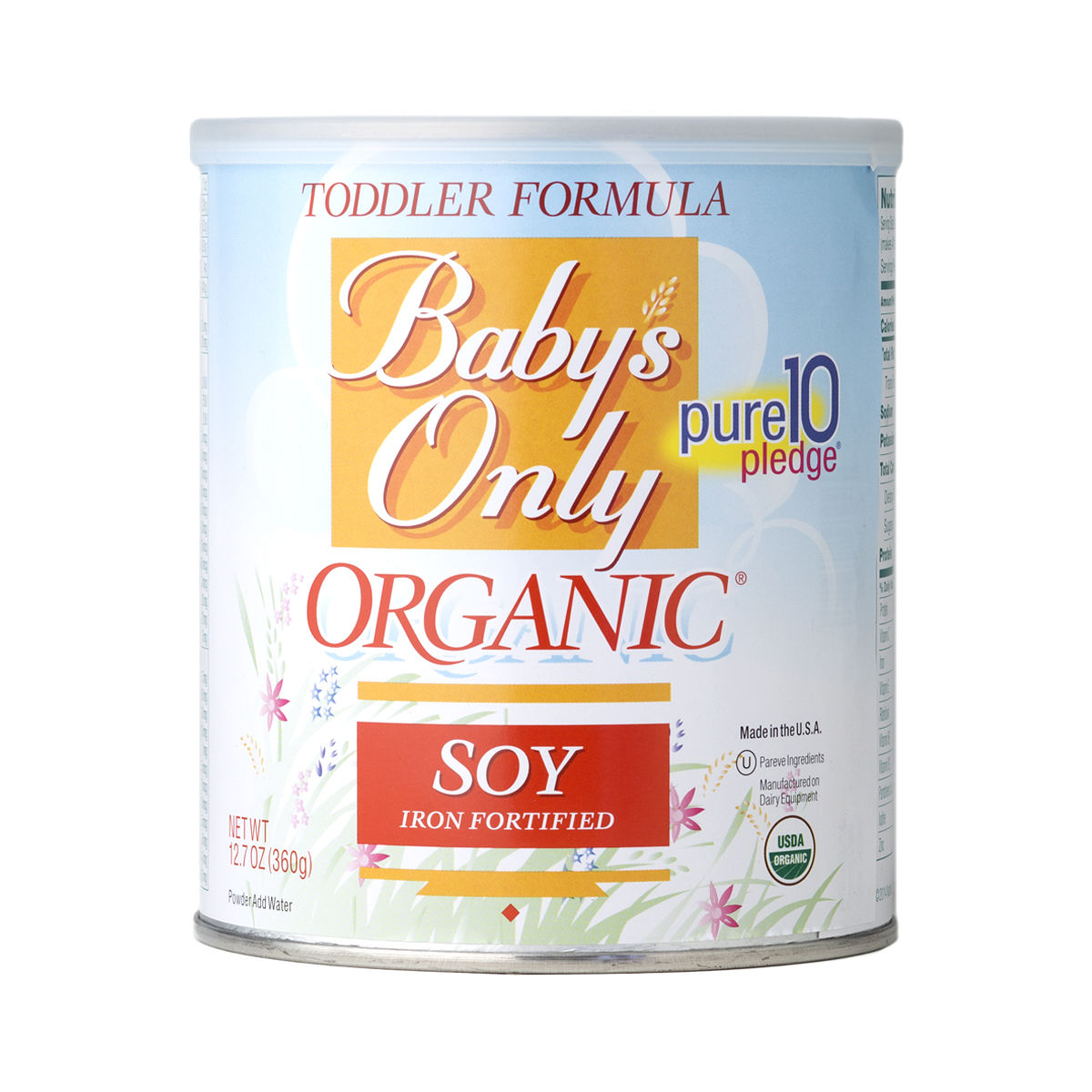 12 7 Oz Soy Toddler Formula By Baby S Only Organics