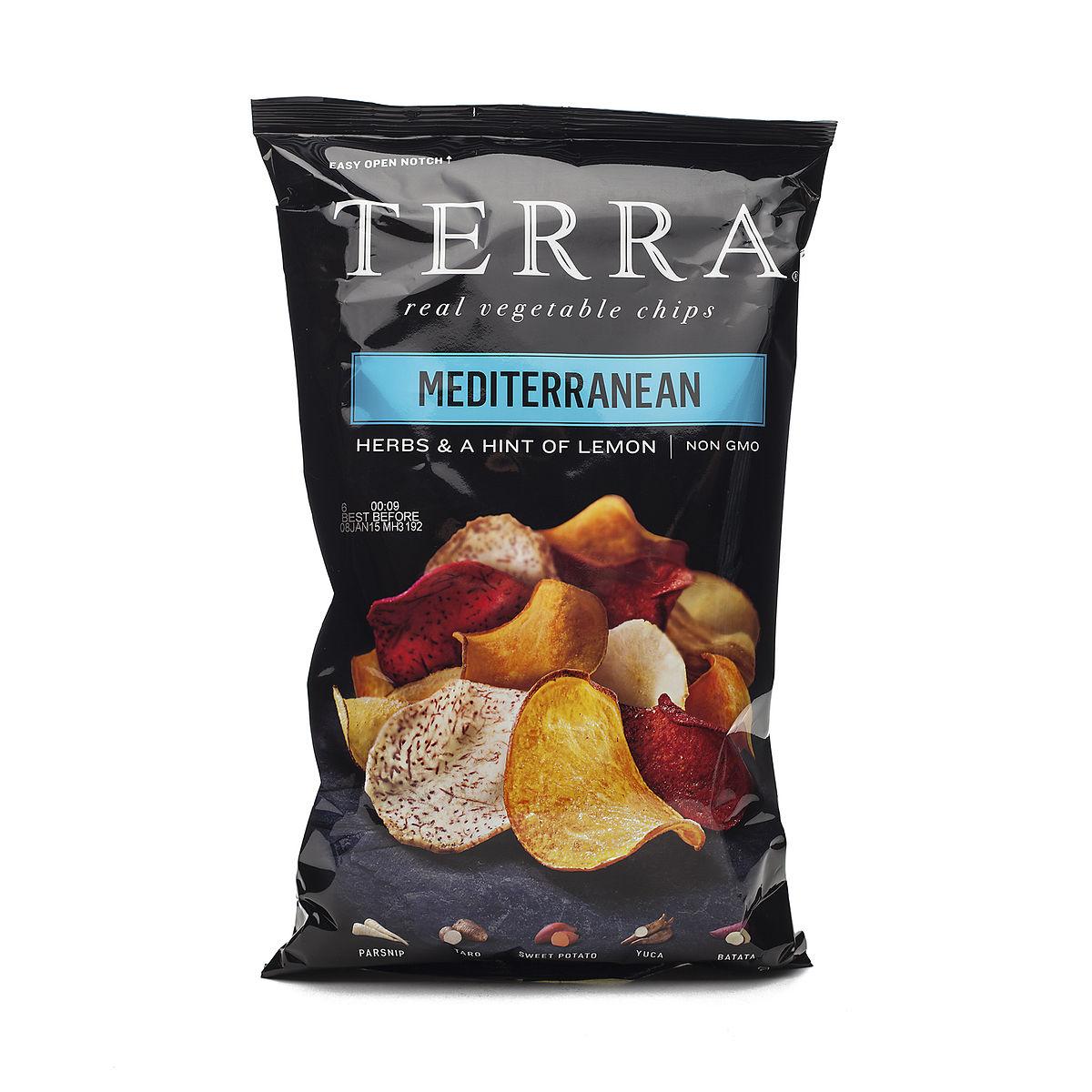 Terra Chips Exotic Vegetable Chips Mediterranean