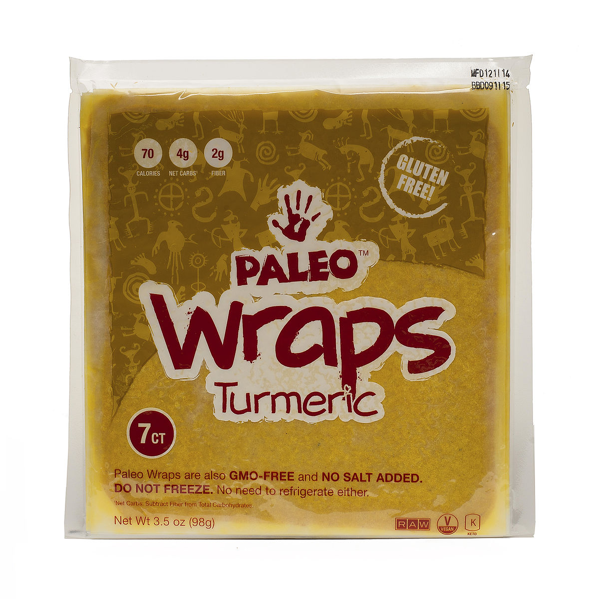 Julian Bakery PALEO WRAPS, TURMERIC from Thrive Market