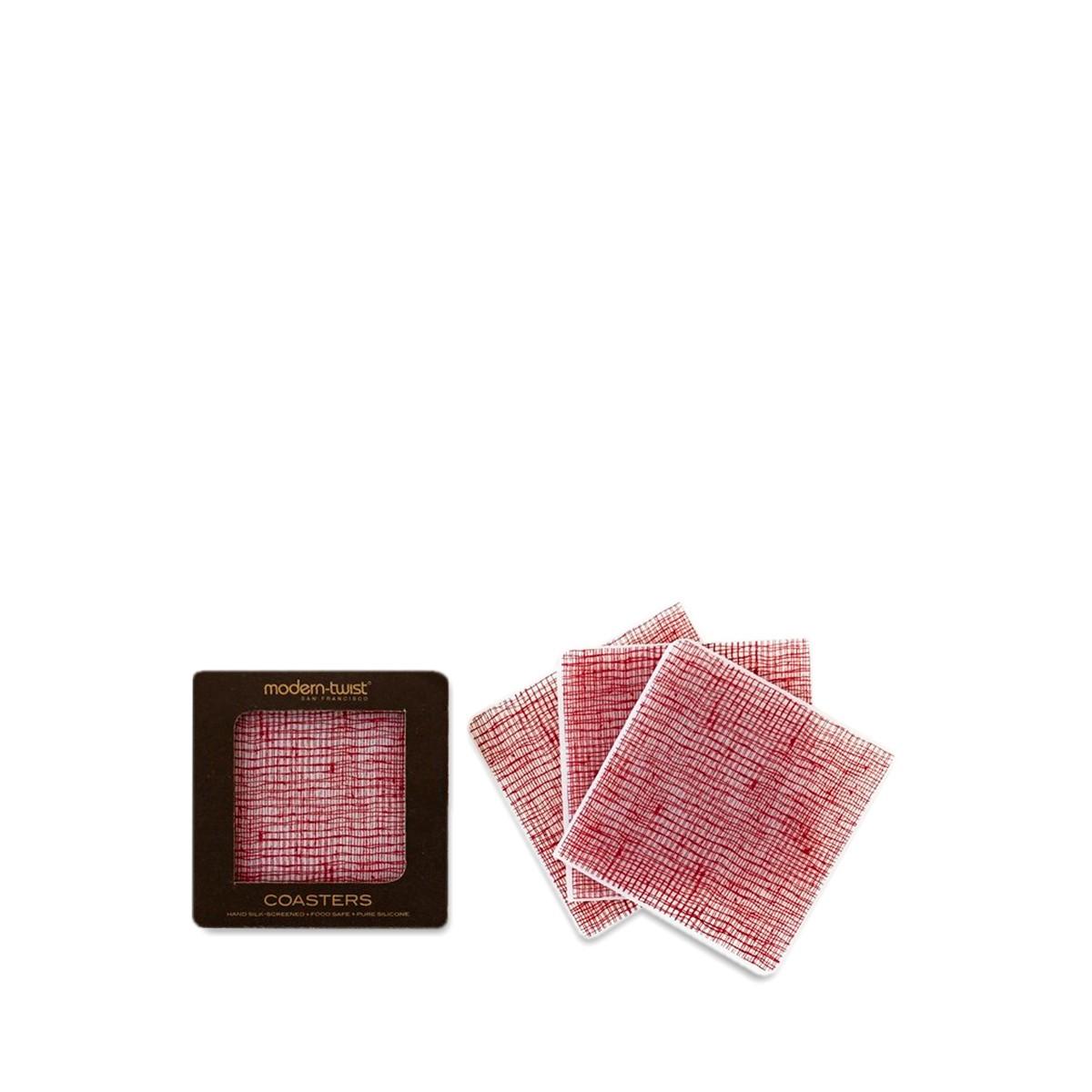 Cranberry Linen Coasters By Modern Twist Thrive Market