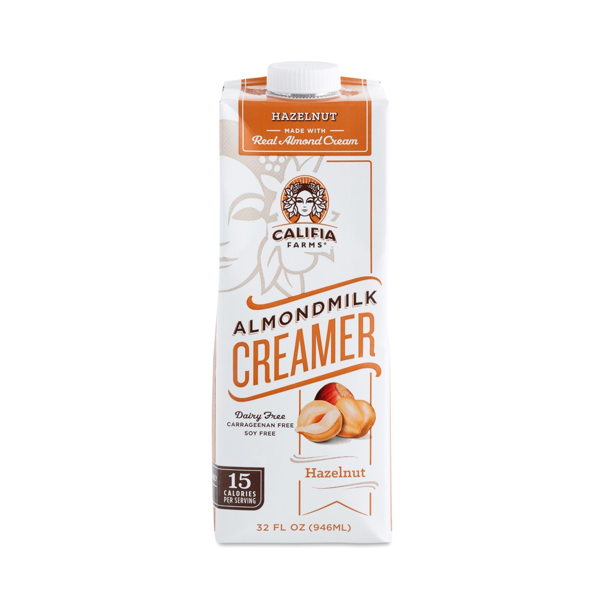 Califia Farms Almond Milk Creamer, Hazelnut - Thrive Market