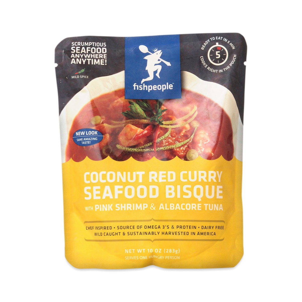 10 oz Coconut Red Curry Seafood Bisque by Fishpeople - Thrive Market
