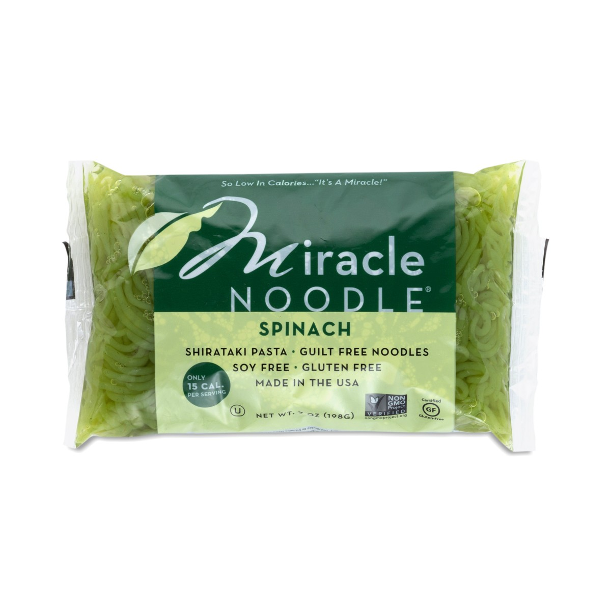 Miracle Noodle Spinach Angel Hair Shirataki Noodle