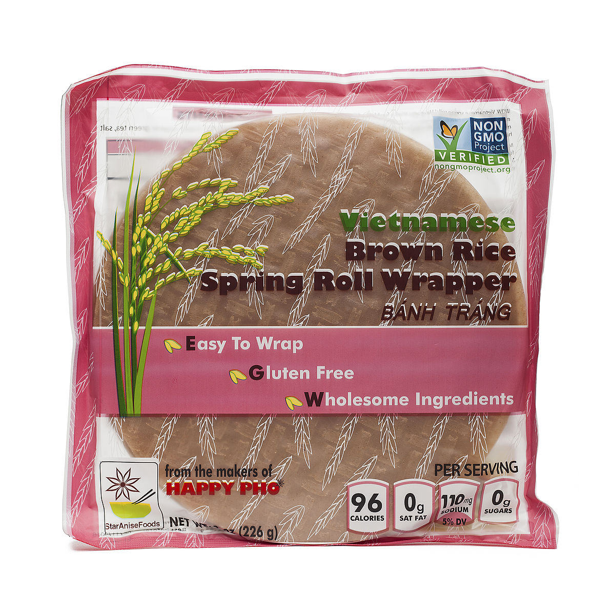Star Anise Foods VIETNAMESE BROWN RICE SPRING ROLL WRAPPER from Thrive Market