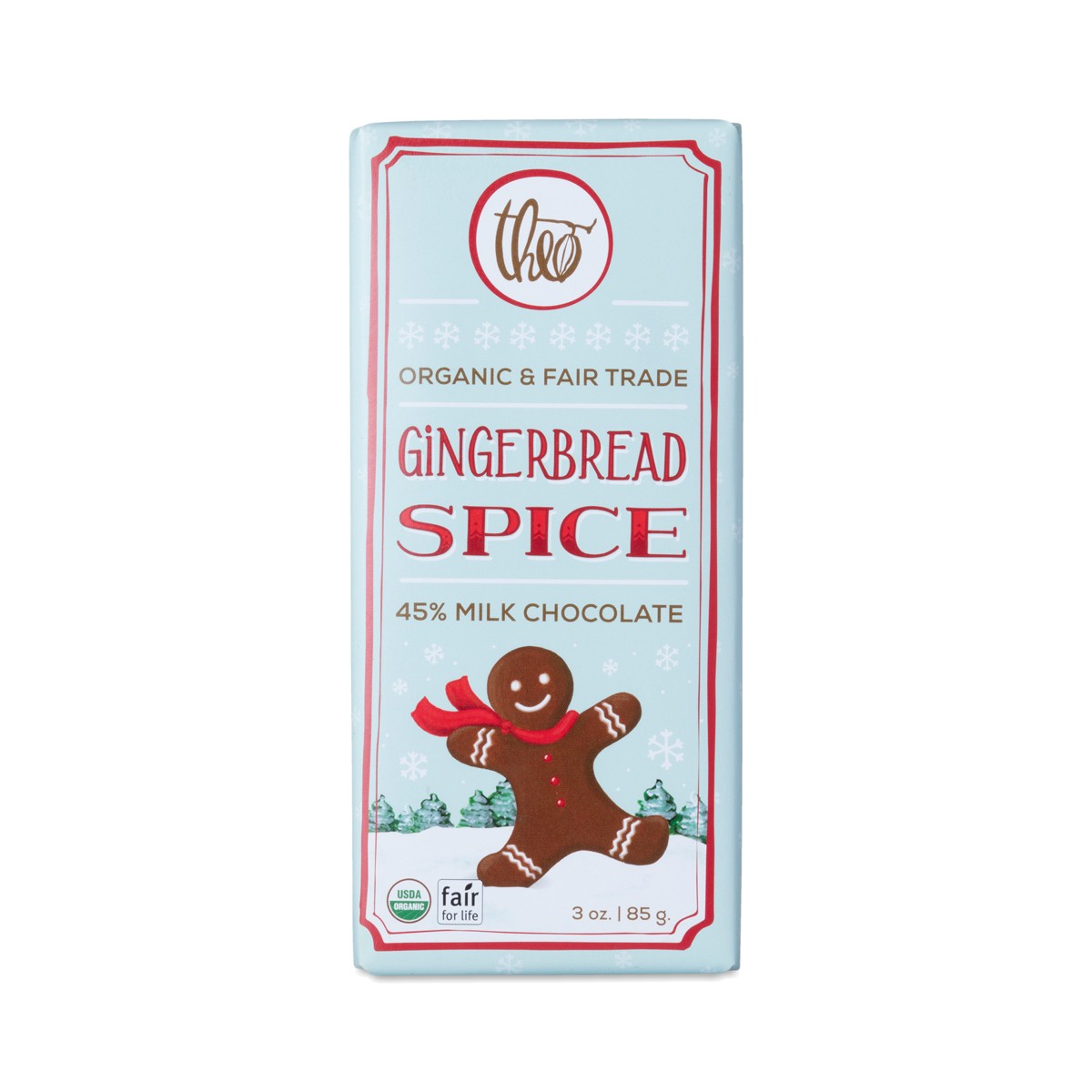 theo chocolate gingerbread spice chocolate bar 3 oz bar leave a review
