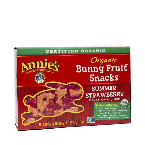 Organic Bunny Fruit Snacks - Summer Strawberry