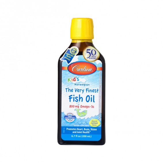 Lemon flavor kids very finest fish oil by carlson labs for Carlsons fish oil