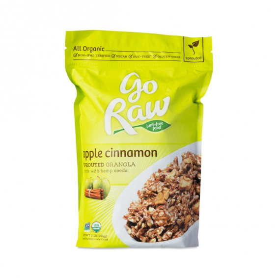 Go Raw Organic Raw Sprouted Apple Cinnamon Granola - Thrive Market