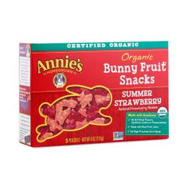 Organic Bunny Fruit Snacks - Summer Strawberry