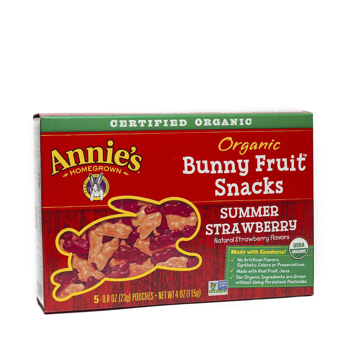 Annie's Homegrown Organic Bunny Fruit Snacks - Summer Strawberry - Thrive Market