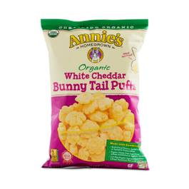 Organic White Cheddar Bunny Tail Puffs