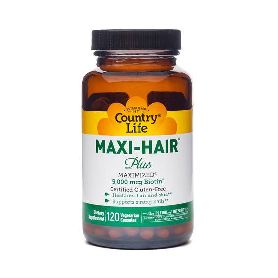 Maxi Hair® Plus Biotin Hair Skin and Nails Supplement