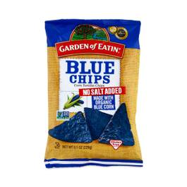 Blue Corn Tortilla Chips - Unsalted