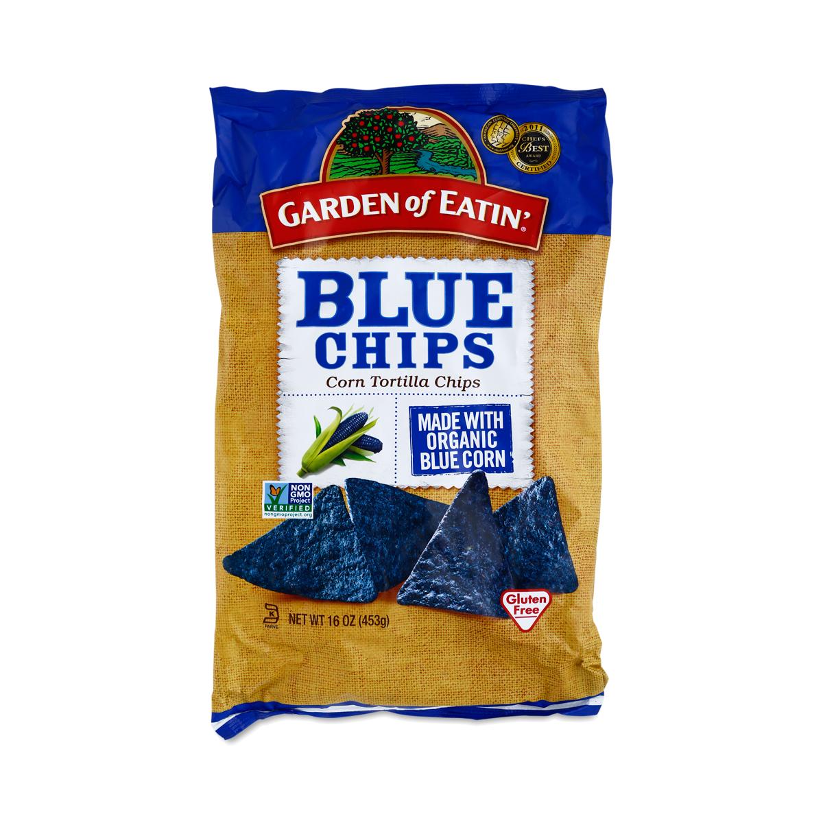 16 Oz Blue Corn Tortilla Chips By Garden Of Eatin