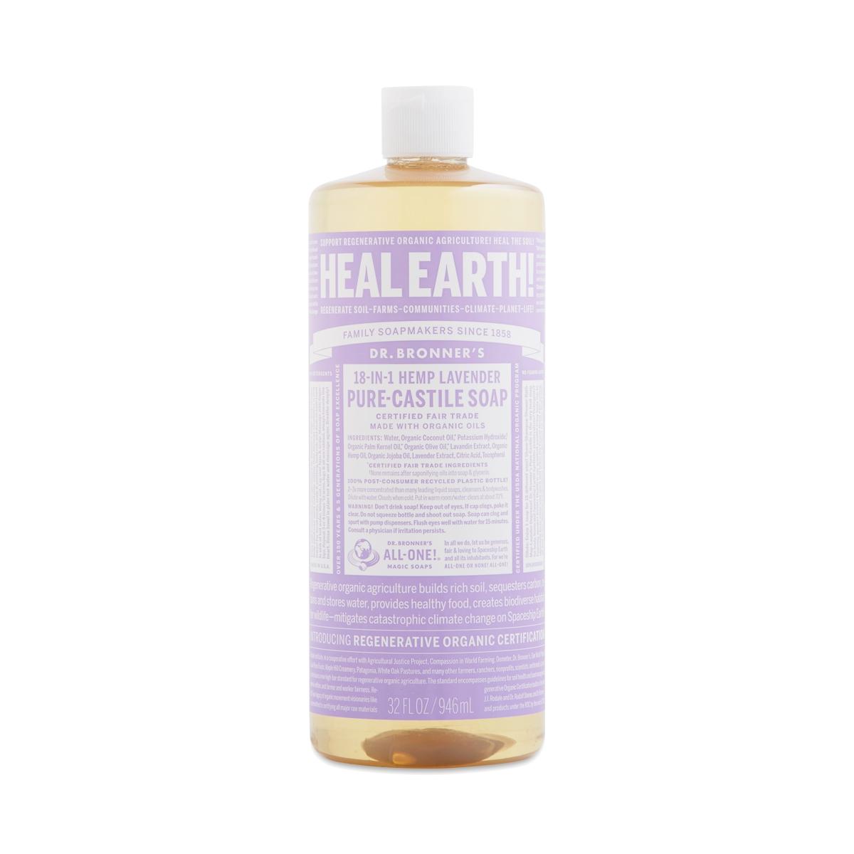 Organic Lavender Liquid Castile Soap