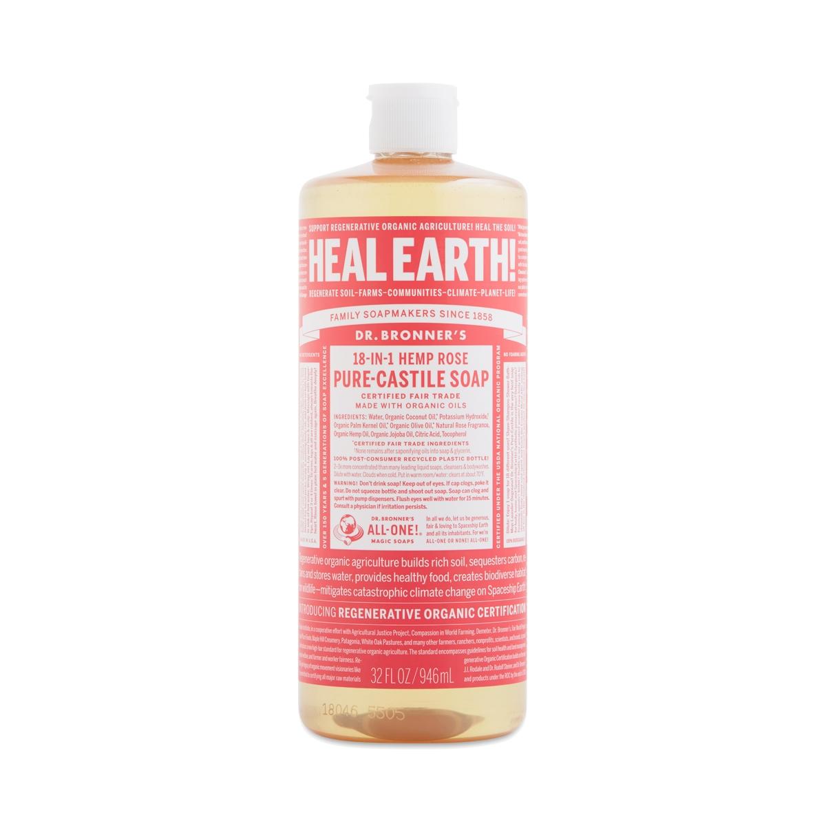 Organic Rose Castile Liquid Soap