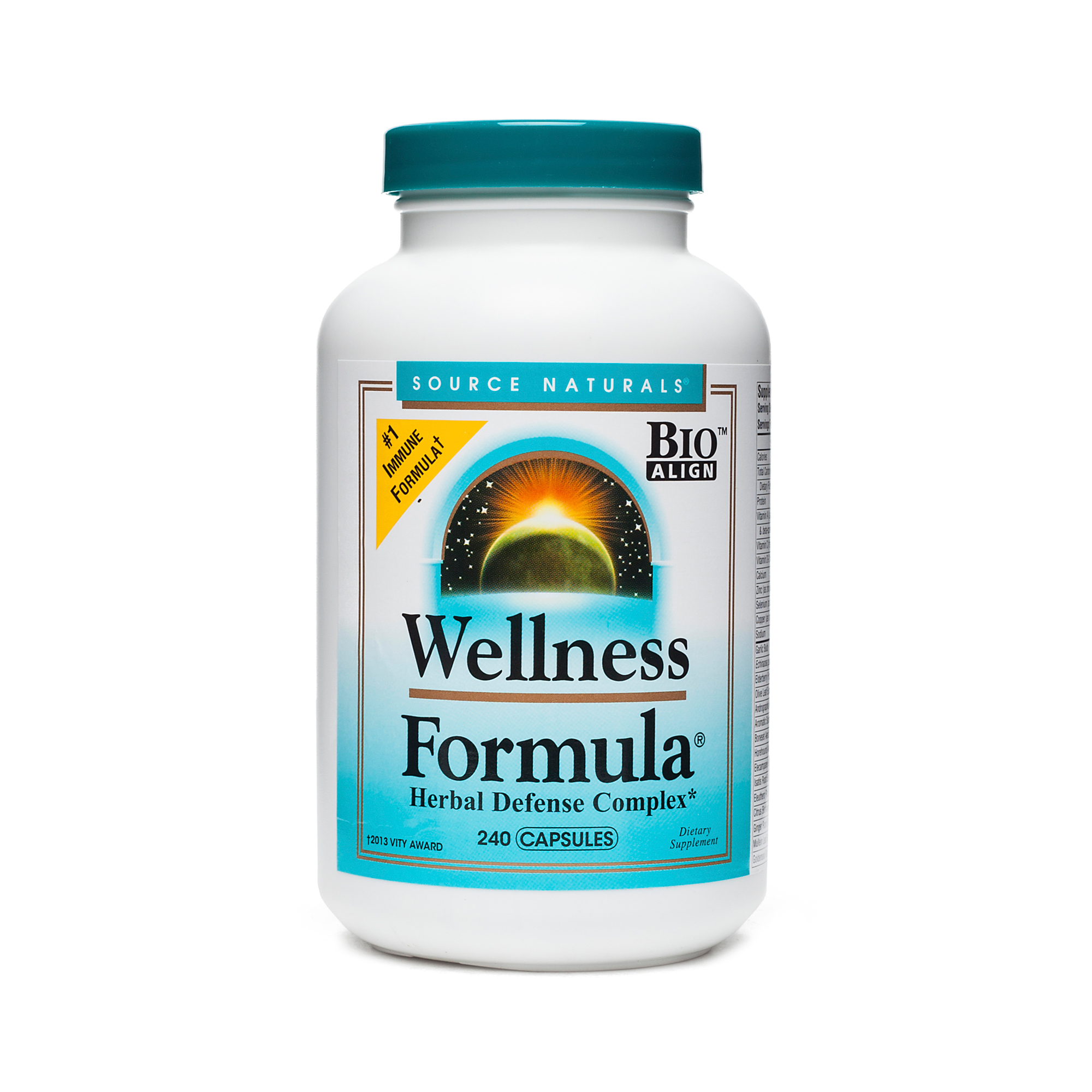 Source Naturals Wellness Formula Herbal Defense Complex 240 capsules per bottle