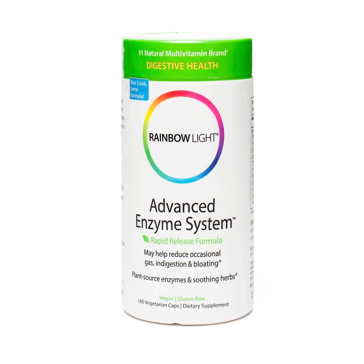 rainbow light advanced enzyme system 180 veggie capsules per bottle. Black Bedroom Furniture Sets. Home Design Ideas