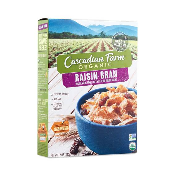 Cascadian farms raisin bran