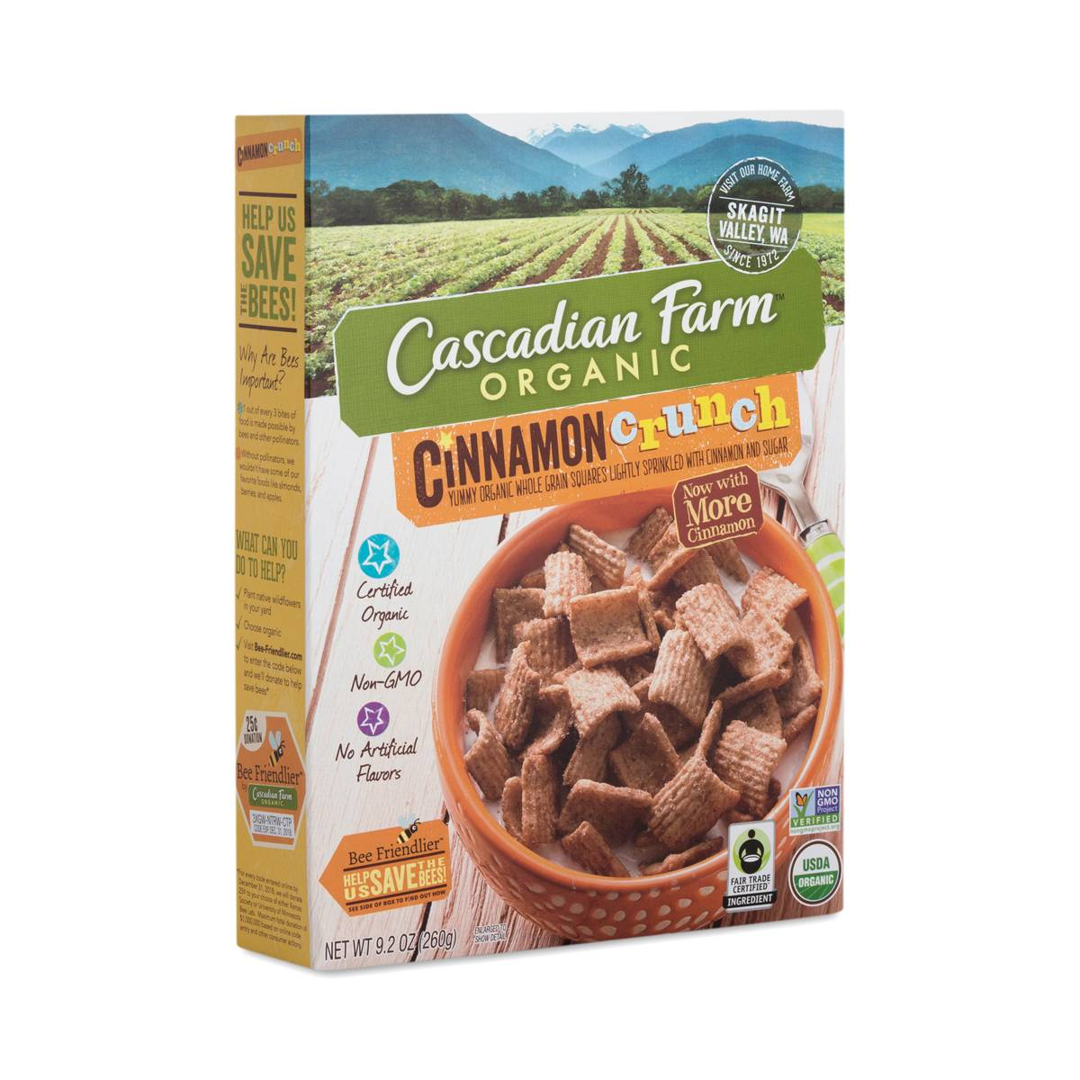 Cinnamon Crunch Cereal By Cascadian Farm