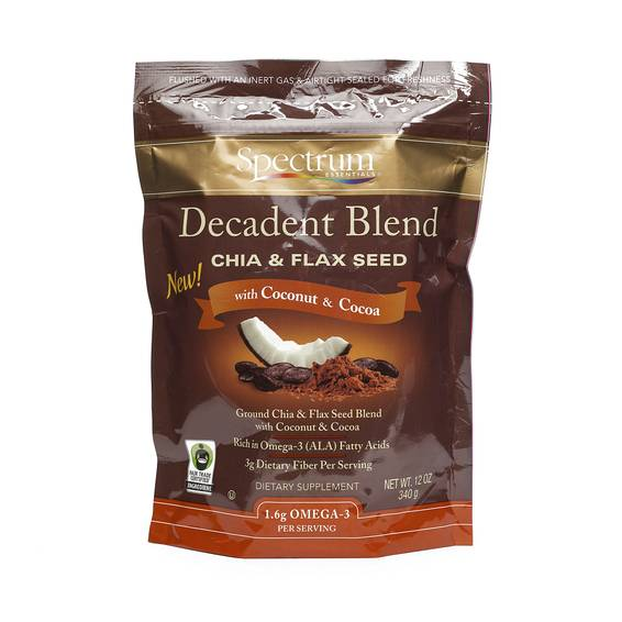 Decadent Blend Chia and Flax Seeds - Coconut and Cacao