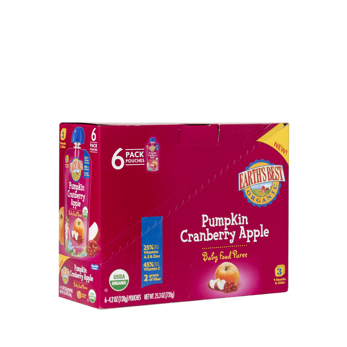 Earth's Best Pumpkin Cranberry Apple Puree