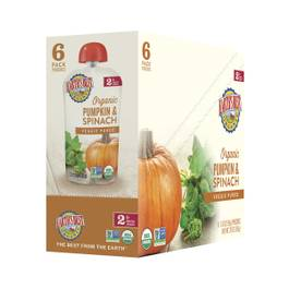 Pumpkin & Spinach Baby Food Puree