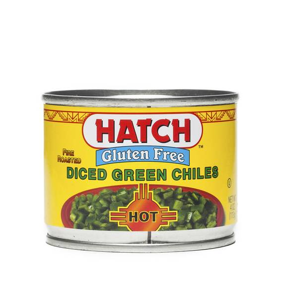 Hot Green Chiles - Diced