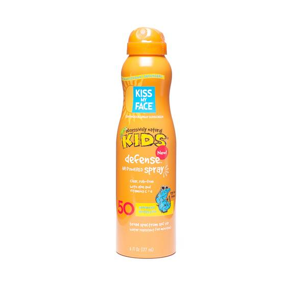 Kids Defense SPF 50 Sun Spray Lotion with Any Angle Air Powered Spray