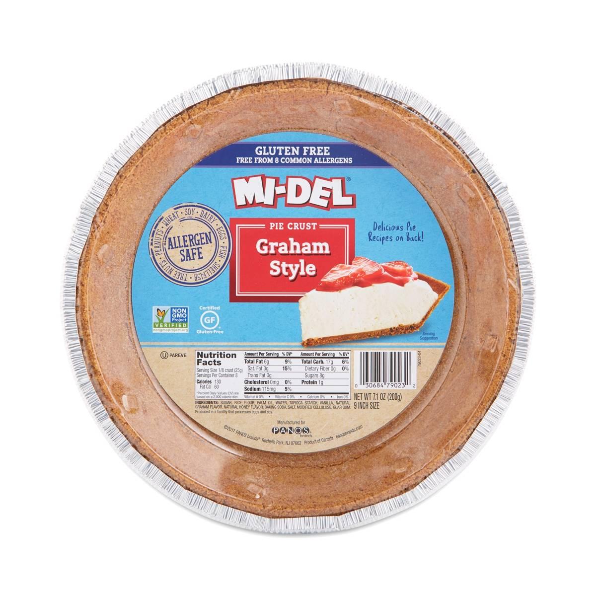 Midel Gluten Free Graham Cracker Pie Crust - Thrive Market