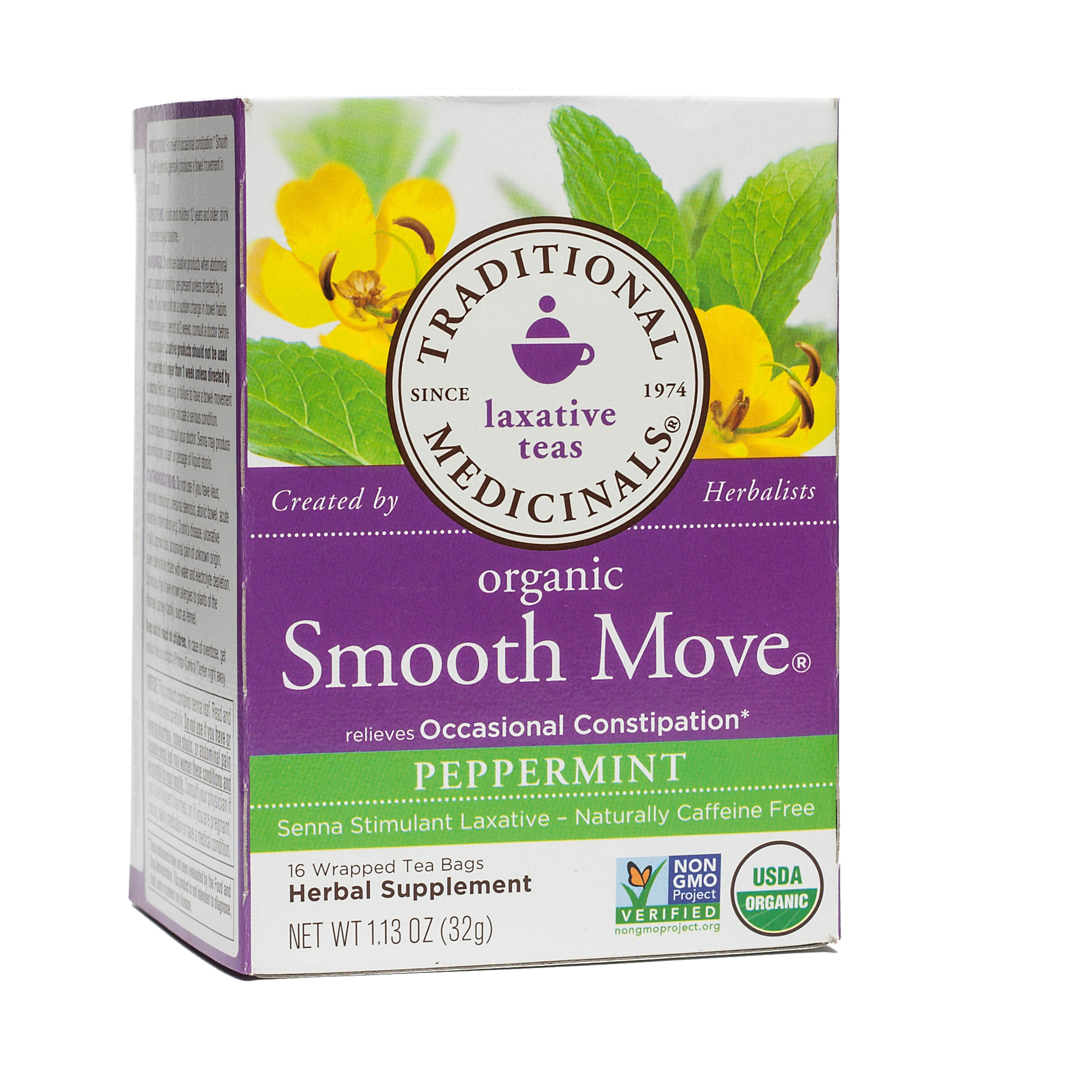 Organic Smooth Move Tea By Traditional Medicinals Thrive