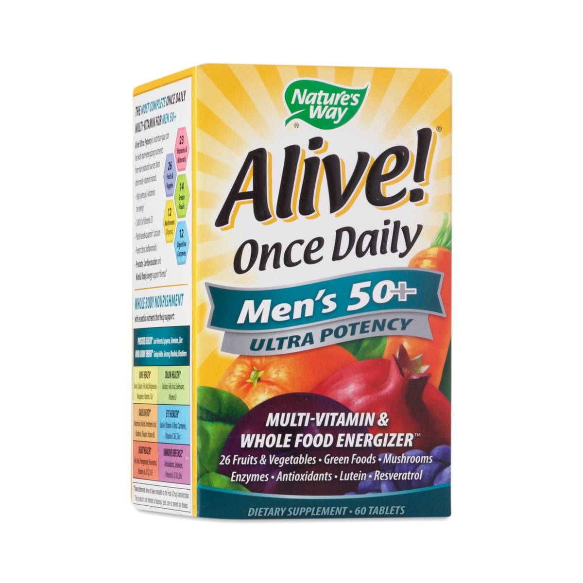 Natures Way Alive Once Daily Mens  Ultra Potency Multivitamin