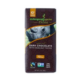 Fair Trade Dark Chocolate Bar with Hazelnut Toffee