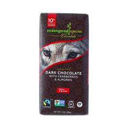 Fair Trade Dark Chocolate With Cranberries & Almonds - 72% cocoa